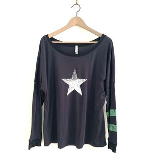 Free People Movement Top Long Sleeve Star Graphic